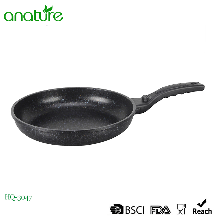 Die Cast Marble Coating Aluminum Cookware Fry Pan