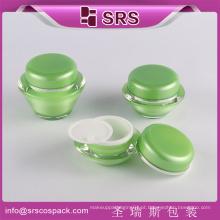 Garrafa de plástico de recipiente de cosméticos extravagante, jar de skincare, frasco arylic