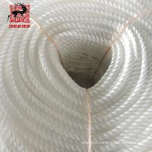 Cuerda de nailon de alta calidad de tres hilos para fondeo marino