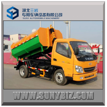 Gasoline & CNG Engine T-King 4X2 Hook Lift /Roll-off Garbage Truck