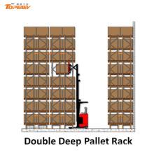 Estante de plataforma de doble profundidad de acero para el sistema de almacenamiento de almacén