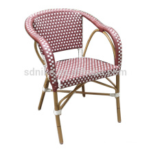 DC-(151) Modern wicker rattan armchair pink dining chair/ bamboo chair
