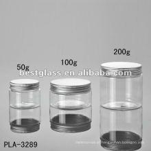 50g, 100g, 200g frasco, frasco cosmético, frasco de plástico, com tampa de alumínio, aceitar OEM