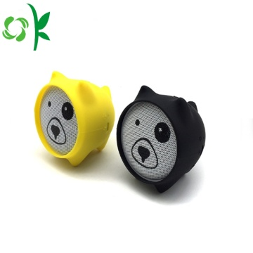 Cute Cat Drop Rintangan silikon Mini Speaker Kes