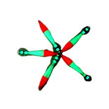 FSQL020 dark glow luminous plastic squid jig 7.6cm 10.2cm