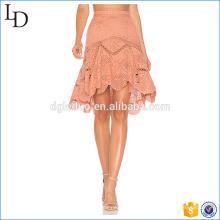 Irregularidad falda de encaje de fondo elegante traje de falda de las señoras