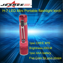 rechargeable-flashlight cree led flashlight 200lm portable torch