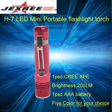 Перезаряжаемый фонарик кри светодиодный фонарик 200лм портативный фонарик