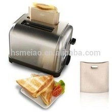 Teflon toaster bag for bread and sandwich heating