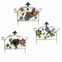 3 Asst Garden Decoration Square Metal Spring Fence Craft
