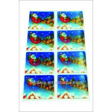 2013 New Item-Snowman 3d lenticular sticker