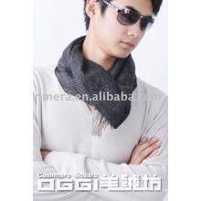 Men's 100% cashmere plain color scarf