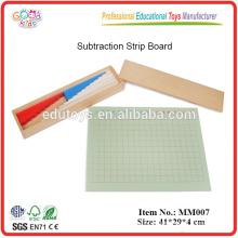 Montessori material Subtraction Strip Board