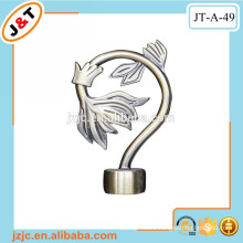 decorative metal curtain rod flower finials