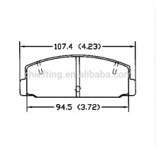 D332 FB06-49-280 pour plaquette de frein Toyota Lexus de qualité supérieure