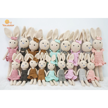 Super Soft Crochet Cotton Baby Bunny Toy Doll