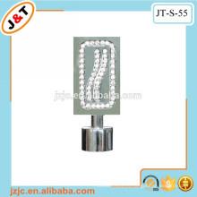 Cortinas de cortinas resistentes flexibles con acabado de cortina de diamante