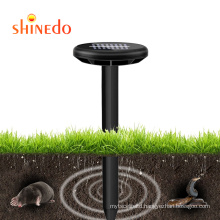 New Solar Powered Mole Mouse Snake Repeller Ultrasonic Sound Wave Pest Control Repellent For Farm Garden Yard