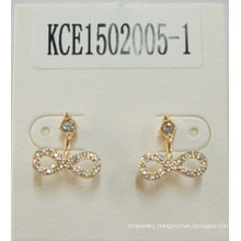 Bow Tie Metal Gold-Plated with Gem Earrings