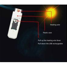 Neue Ankunfts-bunte Zigarette, die USB-elektronisches Feuerzeug raucht