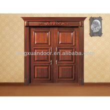 Puerta de entrada, puertas exteriores de madera usadas, diseño de la puerta de entrada principal