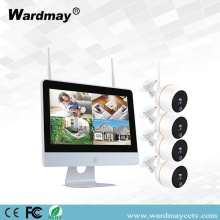 4CH 2.0MP WIFI NVR-kits met touchscreen