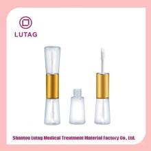 Double tube de gloss lèvres avec tubes de gloss lèvres applicateur emballage