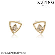 94563 xuping nouvelle mode triangle forme stud boucles d'oreilles en diamant en gros en Chine