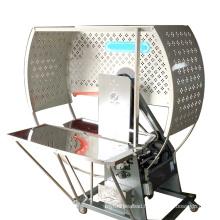 PE semi automatic box making packing belt carton tying bundle strapping machine