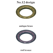Ilhó de cortina de haste decorativa para artesanato em metal fino