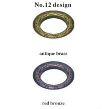Commerce de gros de l'artisanat en métal fin oeillet de rideau décoratif