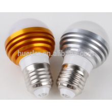 Producto caliente ce rohs 3leds llevado luz bubs e26 / b22 / e27 3 vatios led bombilla e27