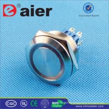 Daier GQ30F-22EM / GQ30F-22EL DPDT 30mm anillo Metal RGB LED botón de presión
