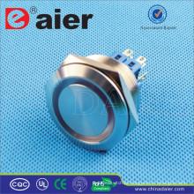 Tecla do diodo emissor de luz do RGB do metal do anel de Daier GQ30F-22EM / GQ30F-22EL DPDT 30mm