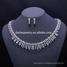 joyas de moda joyería de mujer de latón conjunto lindo
