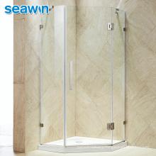 Seawin Stainless Steel Frameless Luxury Bathroom Aluminum Profile Enclosure Glass Shower Door