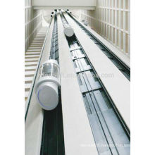 800kg Machine room panoramic elevator for shopping mall
