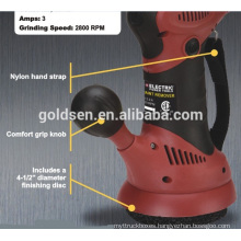 "350w 115mm 4-1/2"" Power Mini Bench Polisher Hand-held Electric Paint Sanding Machine"