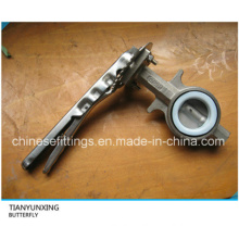 API Lever Operation Wafer Casting Stainless Steel Butterfly Valve