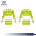 Charming Mesh Sublimate Jugend Cheerleading Uniformen