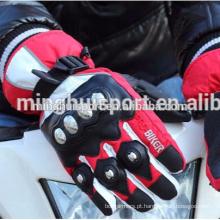Europeu best-seller barato luvas de couro da motocicleta