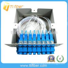 Fiber optic splitter PLC module inserting type