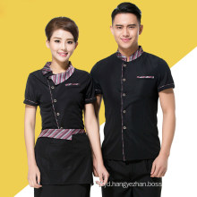 Hotel Waiter Uniform Summer Waitress Overalls Waiter′s Clothes Work Wear