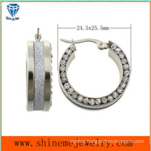 Shineme Fashion Jewelry Stainless Steel Earring with CZ (ERS6951)