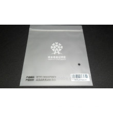 Пластиковый пакет с матовой поверхностью с логотипом и застежкой-молнией