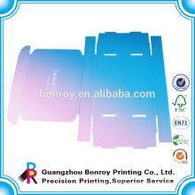 printed raw material for e flute custom corrugated boxes packaging