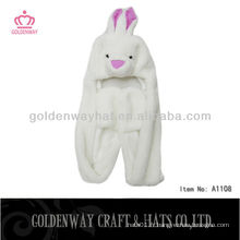 Casquette en fourrure pour lapin pour adultes A1108