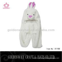 Chapéu de pele falsa de coelho Adulto A1108