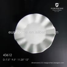 8inch,10inch, 12inch, 14 inch hotel and & restaurant ceramic plain white plates