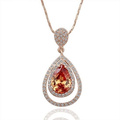 925 Sterling Silver Jewelry with Water Drop Smoky Quartz